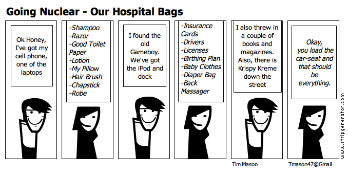 Goingnuclearourhospitalbags